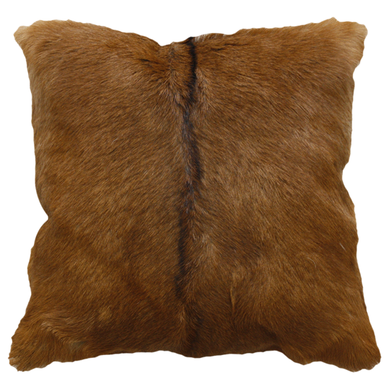 Adore Natural Goat Fur Cushion - Natural Brown
