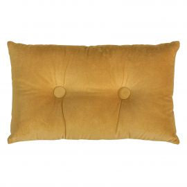 Velvet/Linen Rectangle Cushion 30x50cm Ochre