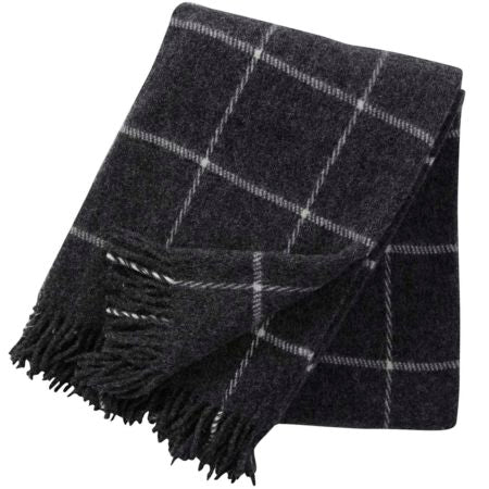 Throw 100% Lambs Wool - Vinga Dark Grey