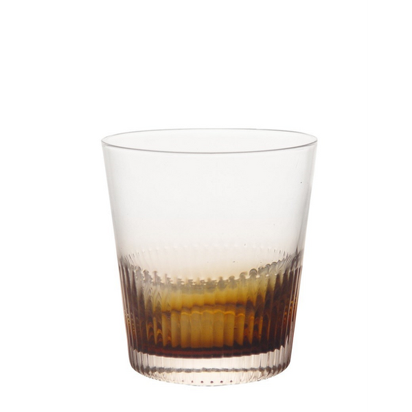 Ambretta Ridged Whiskey Glass Set/4