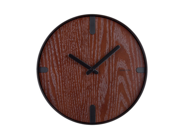 Karlsson Dashed Clock Walnut