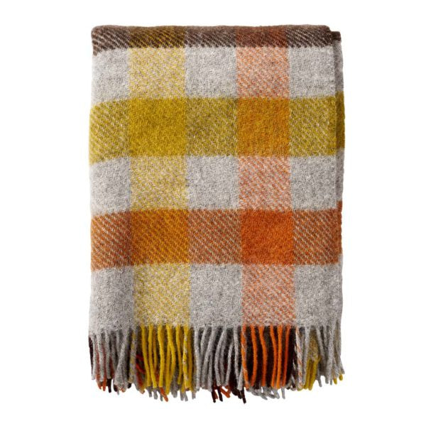 Throw 100% Gotland Wool - Multi Yellow
