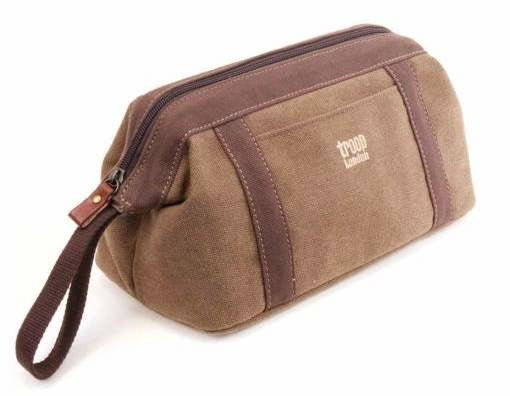 Classic Wash Bag Brown
