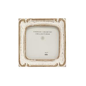 White Wash Square Frame 3x3""