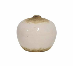 Short White Aki Vase