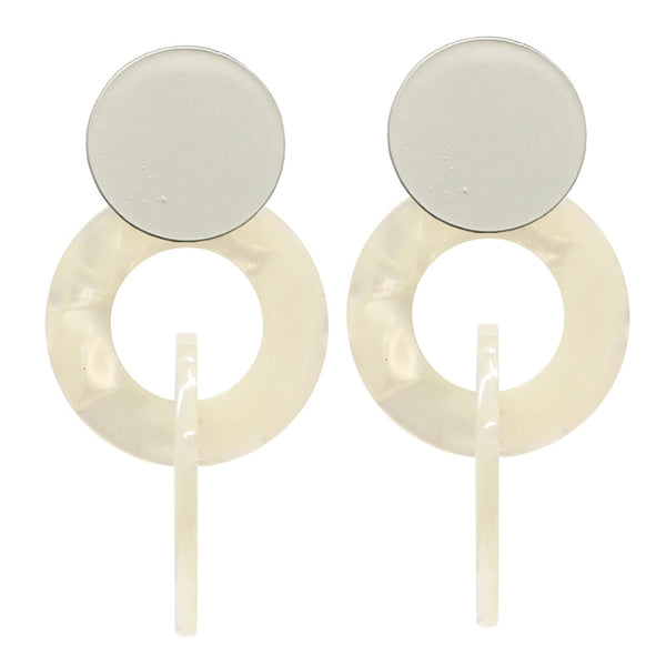 Dixie Earrings White