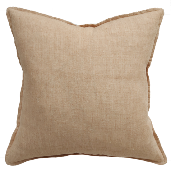Cassia Cushion with Feather Inner Toasted Coconut