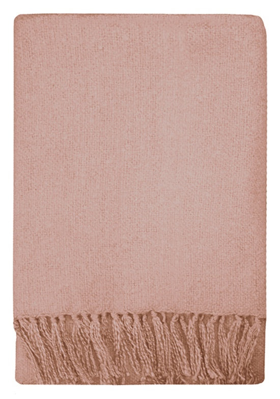 Rhapsody Acyrlic Throw - Dusky Pink