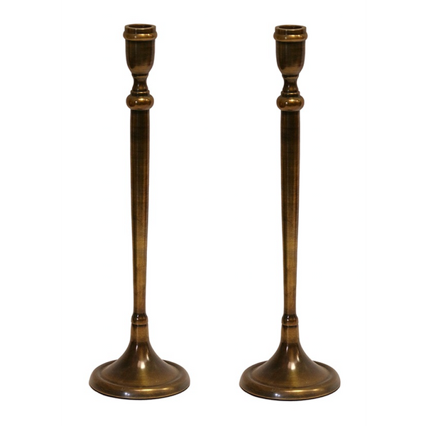 Tapered Candlestick Antique Brass Finish