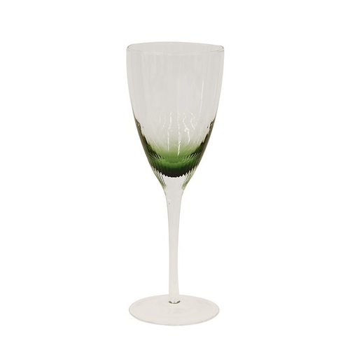 Ascot Green Wine Glass Set/4