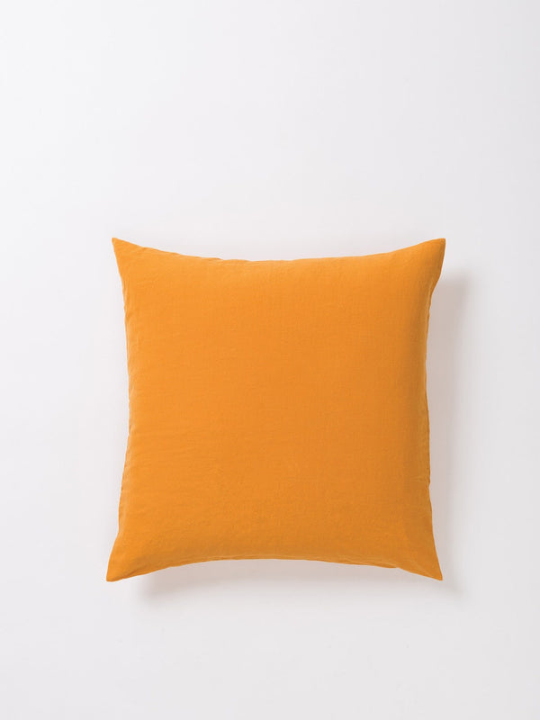 Sove Linen Euro Pillowcase Pumpkin