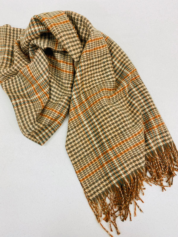 Autumn Check Scarf