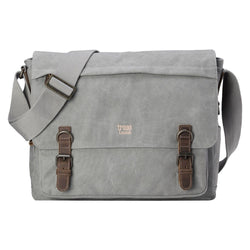 Classic Laptop Messenger Bag - Ash Grey