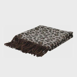 Leopard Neutral Jacquard Throw 130x150cm