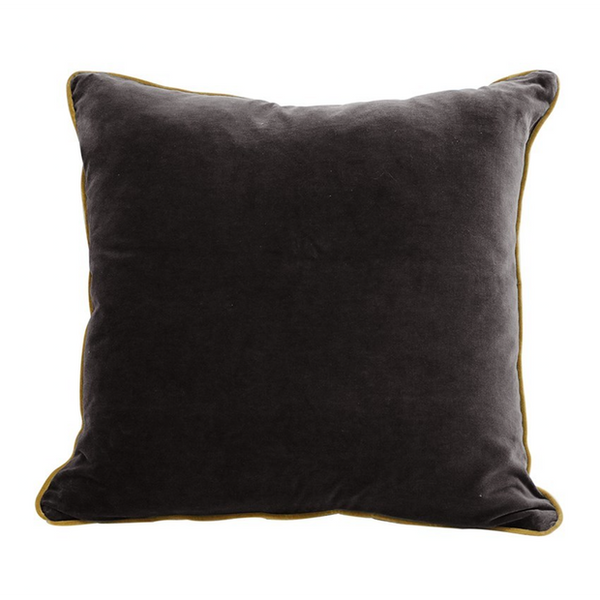 Black & Gold Velvet Cushion Cover 50cm