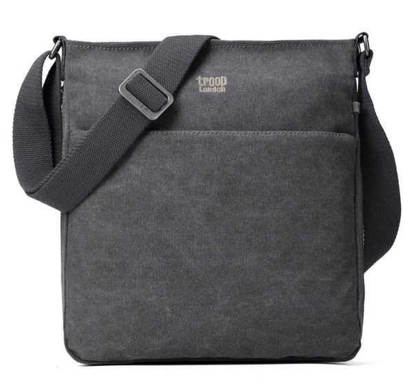 Classic Small Zip Top Shoulder Bag - Charcoal