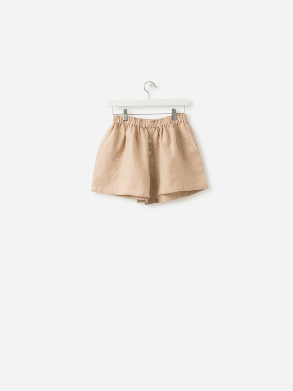 Billie Linen Shorts Latte/Multi