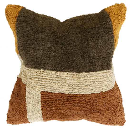 Tavira Cushion with Feather Inner - Spice/Olive
