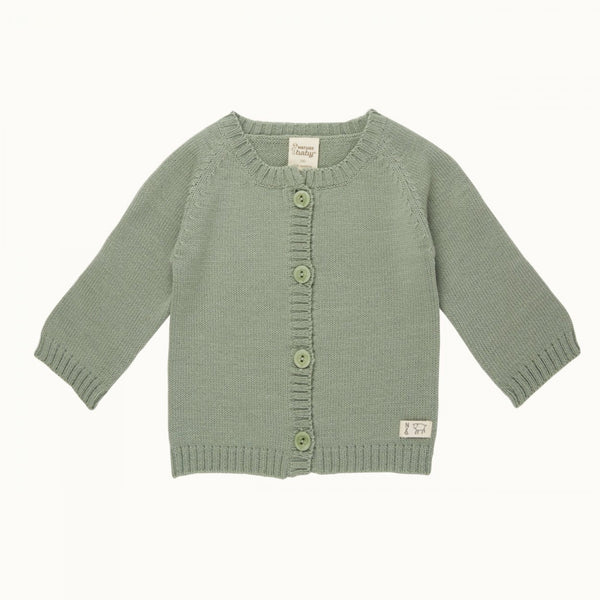 Merino Knit Cardigan Meadow 6-12M