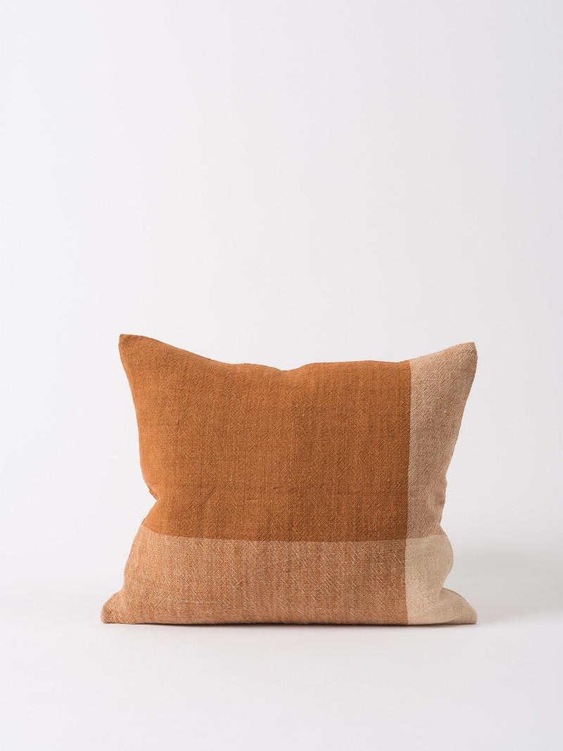 Chester Linen Cushion Cover Chestnut/Macaroon 55x45cm