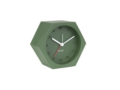 Karlsson Alarm Clock Hexagon Green