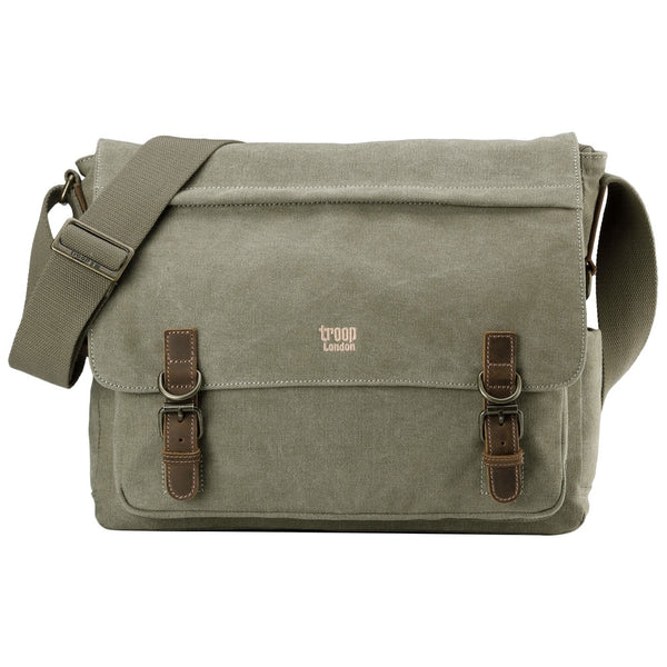 Classic Laptop Messenger Bag - Khaki