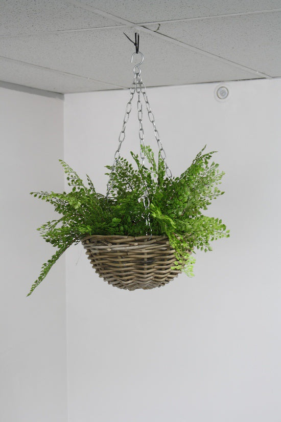 Hanging Rattan Basket Natural 30cm