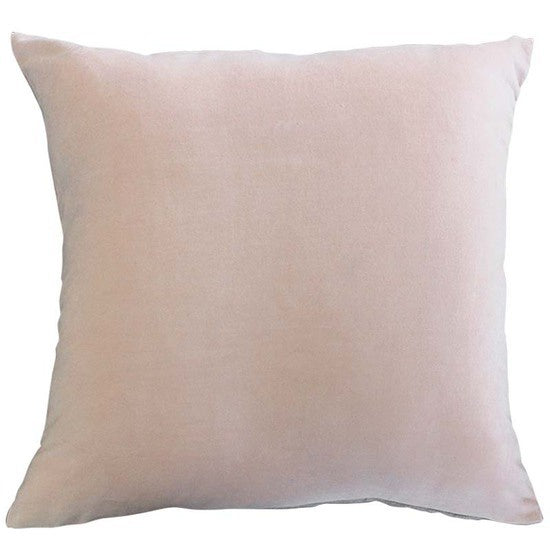 Majestic Linen Backed Velvet Cushion - Rose Quartz