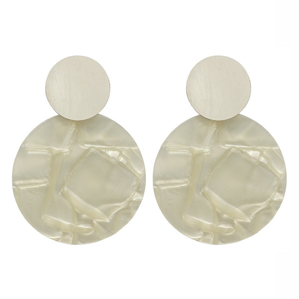 Bernice Earrings White