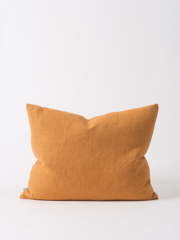 Washed Woven Cushion Cover Pumpkin 65x50cm