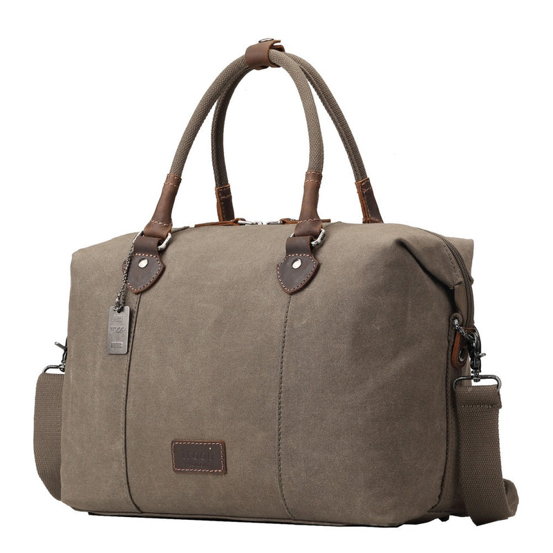 Edison Waxed Canvas Holdall - Olive