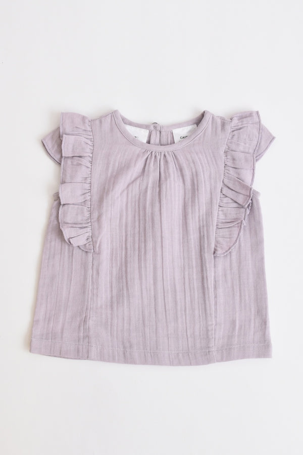 Girls Muslin Top Lilac