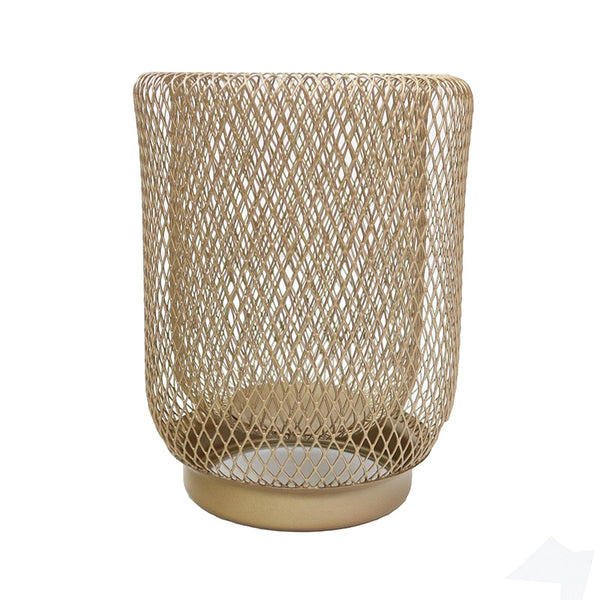 Iron Mesh Lantern Gold Small
