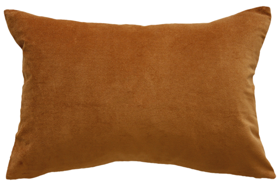 Sovereign Velvet/Linen Cushion - Nutmeg