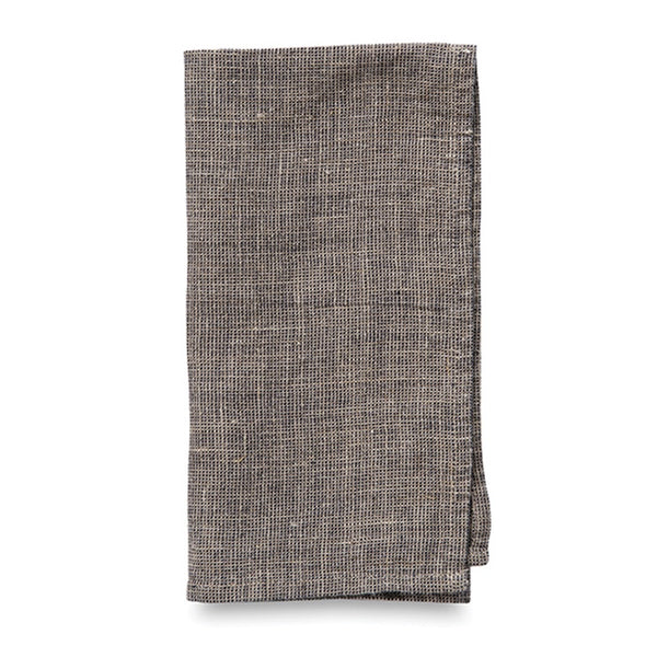 Dine Linen Napkin Black/Natural