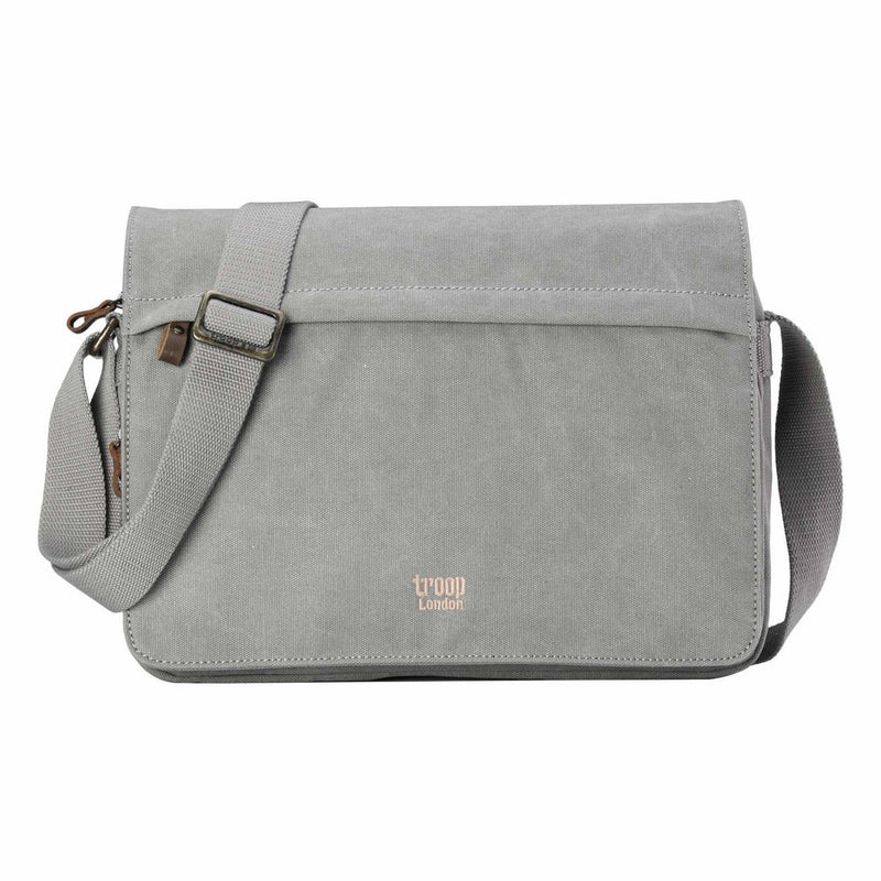 Classic Small Flap Front Messenger Bag - Ash Grey