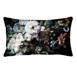 Blooming White Rectangle Cushion