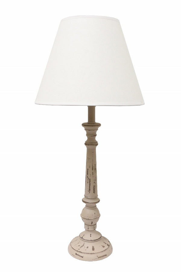 Antique Grey Lamp & Shade