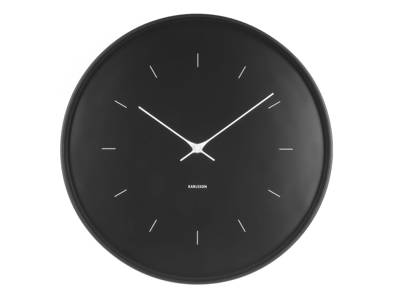 Karlsson Butterfly Clock Black Large