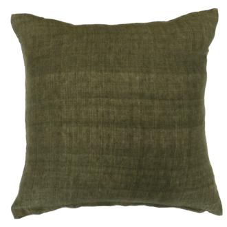 Indira Cushion with Feather Inner - Military