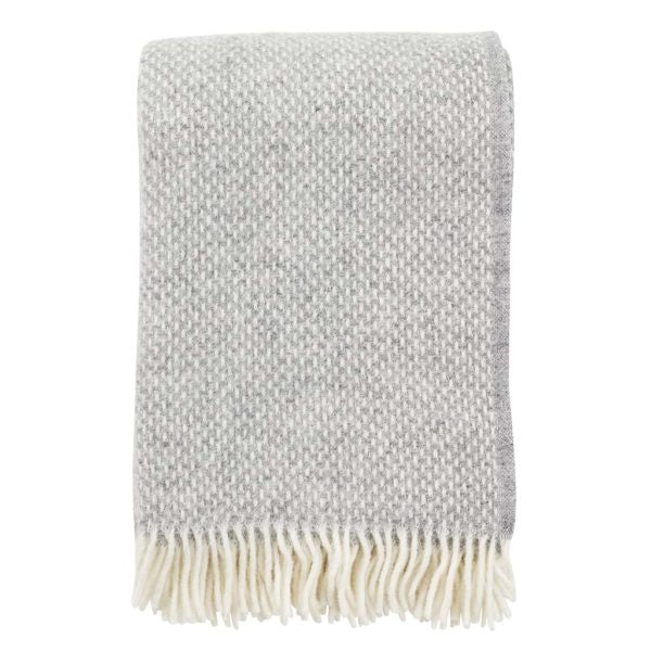 Throw 100% Lambs Wool - Preppy Grey Melange