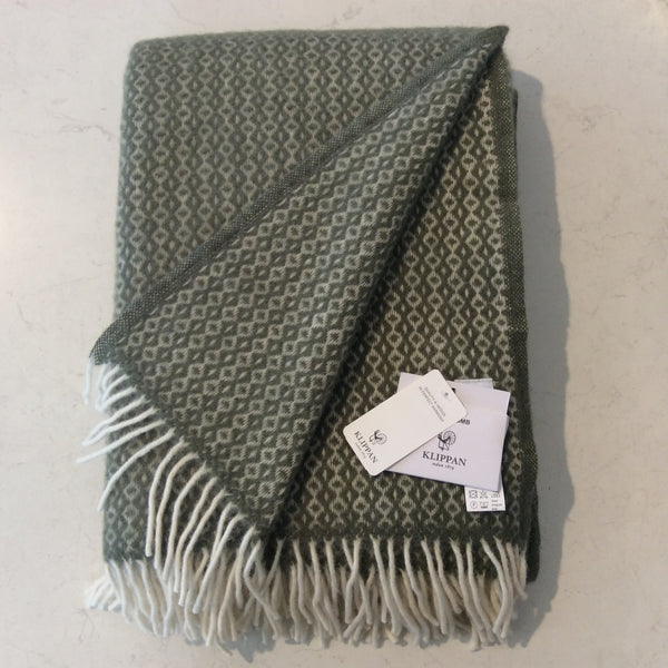 Throw 100% Lambs Wool - Rumba Green