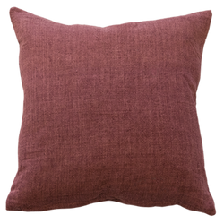 Indira Cushion with Feather Inner - Red Clay
