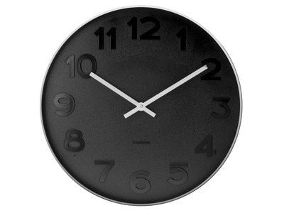 Karlsson Mr Black Clock Medium