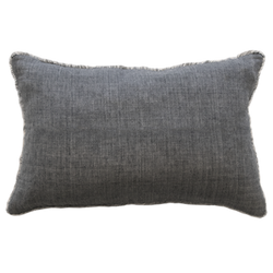 Kobo Cushion with Feather Inner - Charcoal