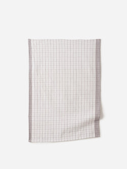Heavy Cotton Tea Towel S/2 Grey/White