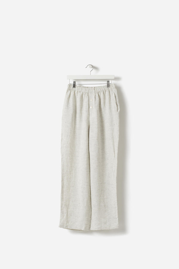 Pinstripe Linen Pants Pepper/Chalk