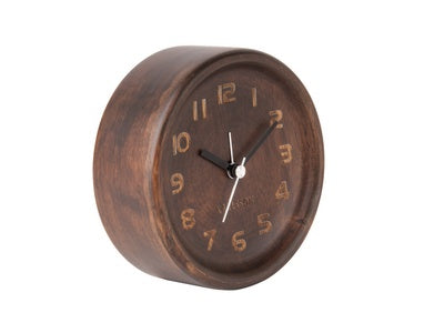 Karlsson Alarm Clock Dark Wood