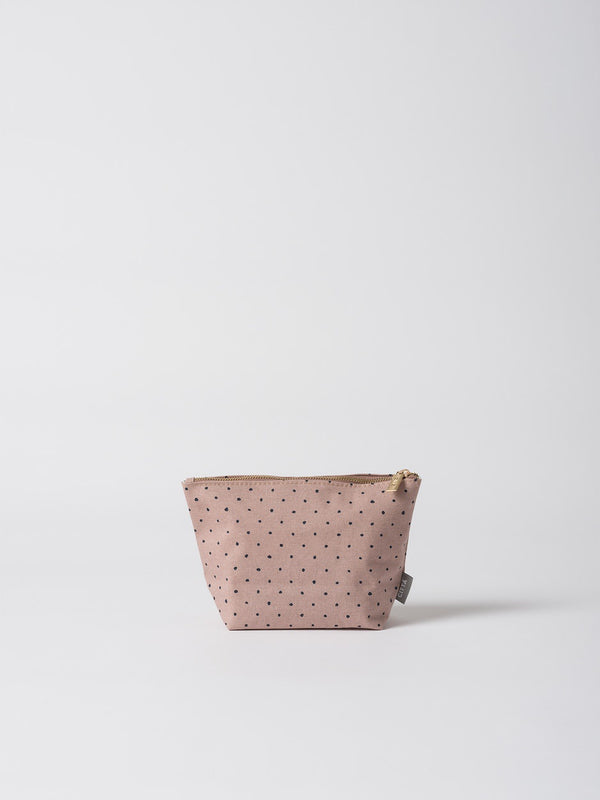 Spot Cotton Wash Bag Mauve/Navy M