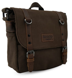 Edison Waxed Canvas Satchel - Dark Brown